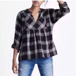 MADEWELL Boheme Popover shirt in Hayden Plaid